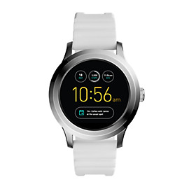 Q Founder 2.0 Touchscreen White Silicone Smartwatch