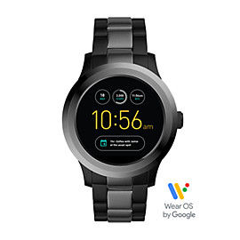Q Founder 2.0 Touchscreen Two-Tone Stainless Steel Smartwatch