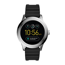 Q Founder 2.0 Touchscreen Black Silicone Smartwatch