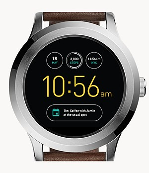 REFURBISHED Gen 2 Smartwatch - Founder Dark Brown Leather