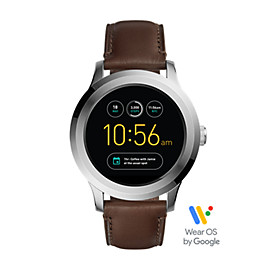 Q Founder 2.0 Touchscreen Dark Brown Leather Smartwatch