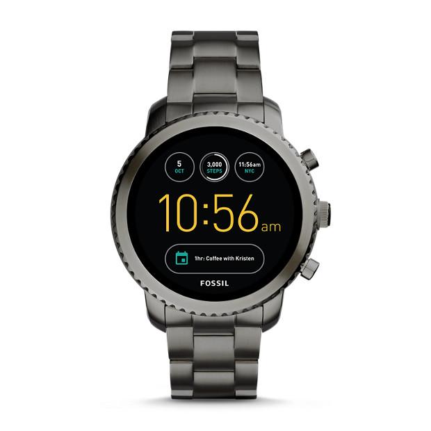 herren smartwatch explorist 3 generation edelstahl grau fossil  herren smartwatch explorist 3 generation edelstahl grau