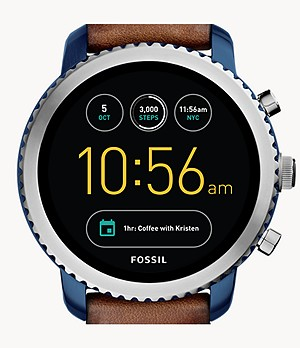 Smartwatch Gen 3 Explorist in pelle color cuoio