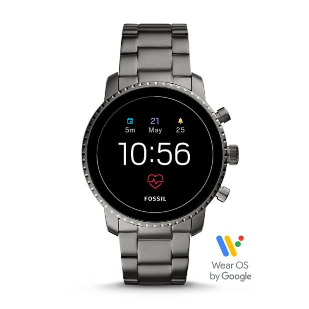Herren Smartwatch Explorist Hr   4. Generation   Edelstahl   Grau by Fossil