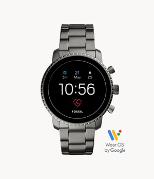 Gen 4 Smartwatch Explorist HR Smoke Stainless Steel