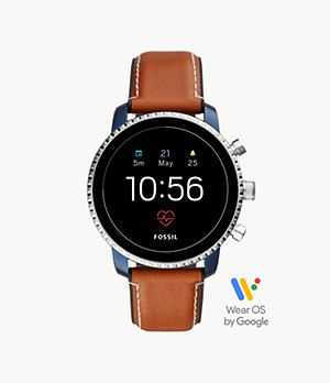 REFURBISHED Gen 4 Smartwatch Explorist HR Tan Leather