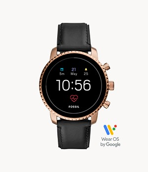 Gen 4 Smartwatch Explorist HR Black Leather