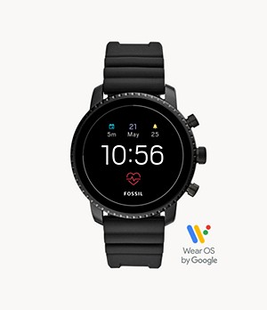 REFURBISHED Gen 4 Smartwatch Explorist HR Black Silicone