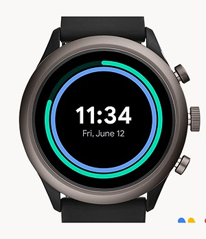 Fossil Sport Smartwatch 43mm Black Silicone