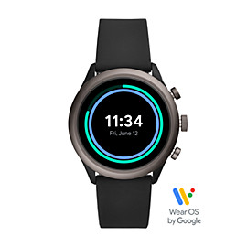 Fossil Sport Smartwatch – Black Silicone