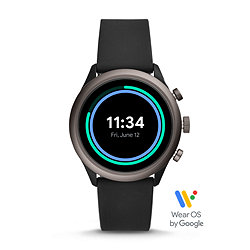 63fe922e4 Fossil Sport Smartwatch - 43mm Black Silicone