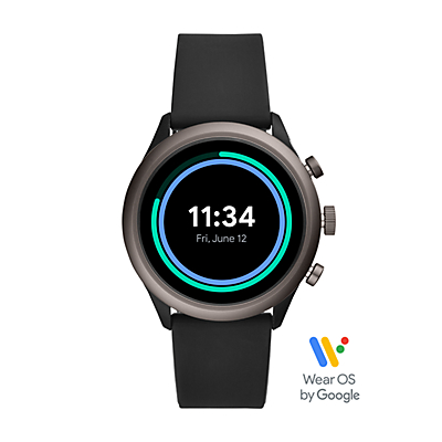 Fossil Sport Smartwatch - Black Silicone