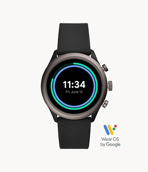 REFURBISHED Fossil Sport Smartwatch Black Silicone