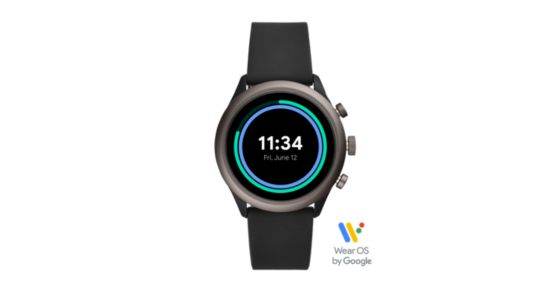 71123c7b5 Fossil Sport Smartwatch - 43mm Black Silicone - Fossil
