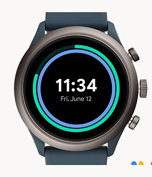 Fossil Sport Smartwatch 43mm Smokey Blue Silicone