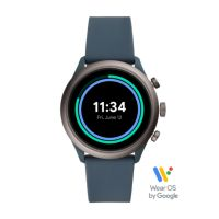 Deals on Fossil Sport Smartwatch 43mm Smokey Blue Silicone