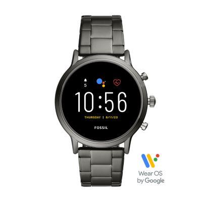 REFURBISHED Gen 5 Smartwatch The Carlyle HR Smoke Stainless Steel - FTW4024J - Watch Station