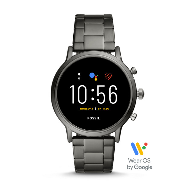 Fossil GEN 5 SMARTWATCH FTW4024P - THE CARLYLE HR SMOKE STAINLESS STEEL