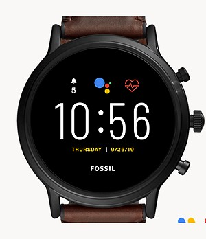 REFURBISHED Gen 5 Smartwatch The Carlyle HR Dark Brown Leather