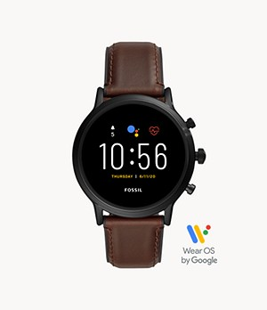 Gen 5 Smartwatch The Carlyle HR Dark Brown Leather