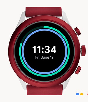 Fossil Sport Smartwatch 43mm Red Silicone