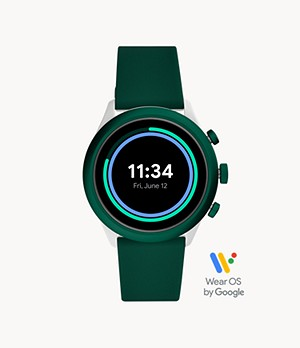 REFURBISHED Fossil Sport Smartwatch 43mm Green Silicone