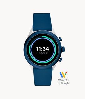Fossil Sport Smartwatch 43mm Blue Silicone
