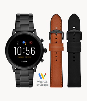 Gen 5 Smartwatch The Carlyle HR Black Stainless Steel