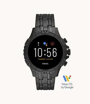 REFURBISHED Gen 5 Smartwatch Garrett HR Black Stainless Steel