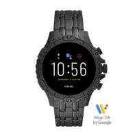 Deals on Fossil Gen 5 Smartwatch Garrett HR Black Stainless Steel