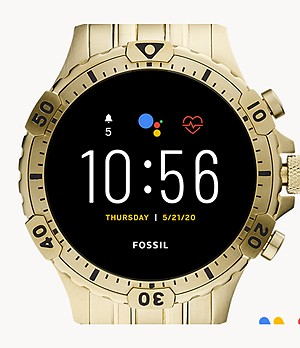 Gen 5 Smartwatch Garrett HR Gold-Tone Stainless Steel