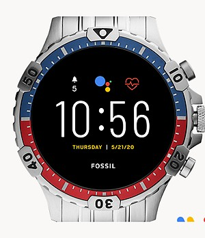 Montre intelligente Gen 5 Garrett HR en acier inoxydable