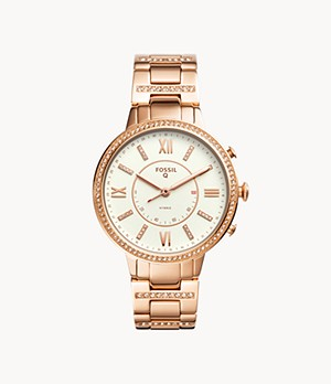Hybrid Smartwatch Virginia Rose Gold-Tone Stainless Steel