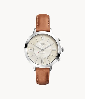 Hybrid Smartwatch Jacqueline Luggage Leather