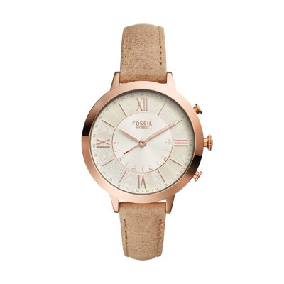 Hybrid Smartwatch Jacqueline Bone Leather
