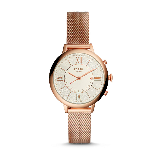 Fossil - Hybrid Smartwatch – Jacqueline Rose-Gold-Tone Stainless Steel - 1