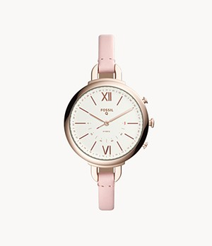 Hybrid Smartwatch Annette Pink Leather