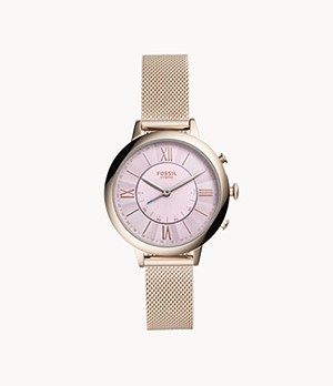 Hybrid Smartwatch Jacqueline Pastel Pink Stainless Steel