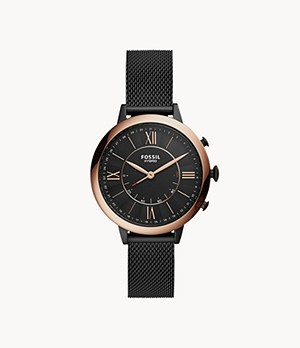 Hybrid Smartwatch Jacqueline Black Stainless Steel