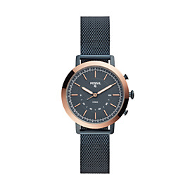 Hybrid Smartwatch – Neely Navy Stainless Steel