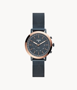 Hybrid Smartwatch Neely Navy Stainless Steel