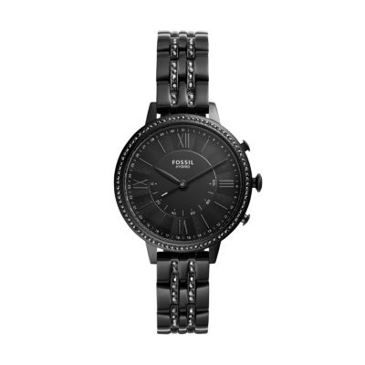 Hybrid Smartwatch Jacqueline Black Stainless Steel Ftw5037 Fossil