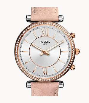Hybrid Smartwatch Carlie Blush Leather