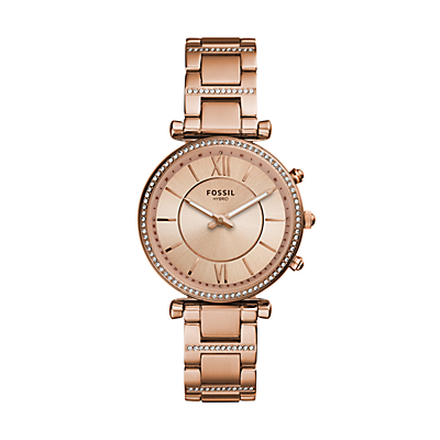 Hybrid Smartwatch - Carlie Rose Gold-Tone Stainless Steel