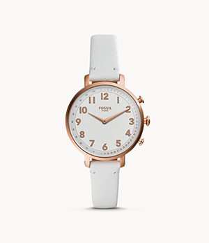 Hybrid Smartwatch Cameron White Leather