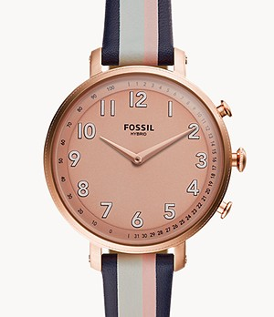 REFURBISHED Hybrid Smartwatch Cameron Pink Stripe Leather