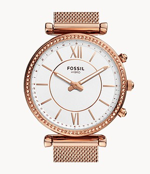 Hybrid Smartwatch Carlie Rose Gold-Tone Stainless Steel