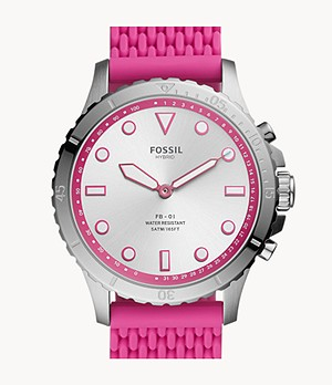 Hybrid Smartwatch FB-01 Hot Pink Silicone