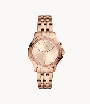 Hybrid Smartwatch FB-01 Rose Gold-Tone Stainless Steel