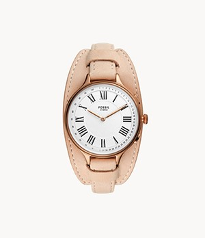 Hybrid Smartwatch Eleanor Blush Leather